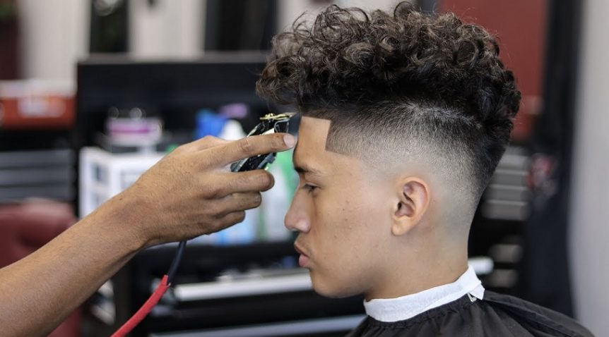 Drop Fade Waves Haircut With Part 48